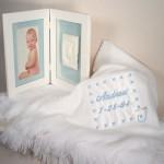 Baby Blanket & Keepsake Frame Personalized Baby Boy Gift