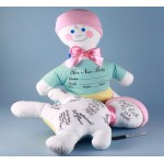 Baby Shower Keepsake Autograph Doll-Baby Girl Gift