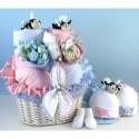 """""""Bee...utiful"""" Baby Basket Gift for Twins"""