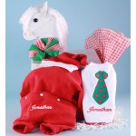 Christmas Outfit, Santa Hat, & Bib Personalized Baby Gift-boy