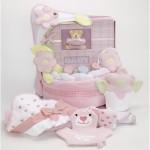 Forever Baby Book Towel & Baby Blanket Cake-girls