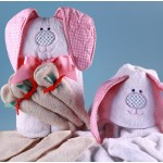 Rabbit Hooded Towel Personalized Baby Gift