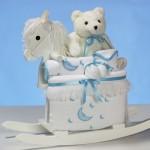 Rocking Horse & Layette Baby Boy Gift