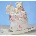 Rocking Horse & Layette Baby Girl Gift