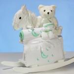 Rocking Horse & Layette Baby Shower Gift
