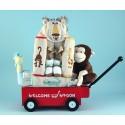 Safari Themed Welcome Wagon Baby Gift