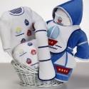 """""""Sail Away"""" Baby Gift Basket"""
