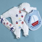 Sail Away Layette Personalized Baby Gift