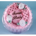 """Sweet Baby"" Girl Hooded Towel Cake"