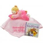 Bedtime Bear and Blanket Set PINK