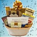 Gourmet Condolences Sympathy Gift Basket with Book