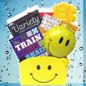 Cheerful Gift Basket for Men and Women with Paperback Book