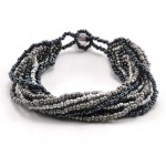12 Strand Bracelet- Black Gray - Lucias Imports (J)