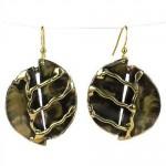 A River Runs Brass Earrings - Brass Images (E)
