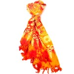 Handmade Sarong Fire Orange - Designs will Vary - Global Groove (W)