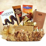 Premium Chocolate Sampler: Gift Basket