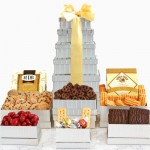 Shimmering Surprise: Gourmet Gift Tower