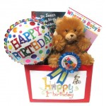 Baby's First Birthday Gift Basket with Books