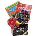 Birthday Gift for Men and Women with Puzzle Books and Popcorn