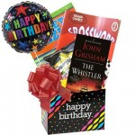 Birthday Gift for Men and Women with Paperback Book, Puzzle Books and Popcorn