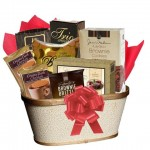 Birthday Gift Basket with Chocolate Cookies and Cake