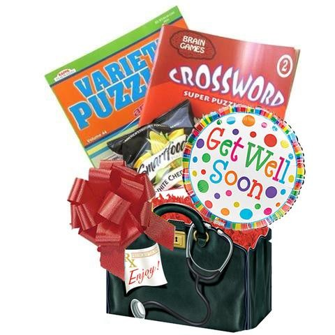 Get Well Wishes with Puzzle Books and Popcorn