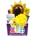 Thinking of You Gift Basket for Women with Paperback Book