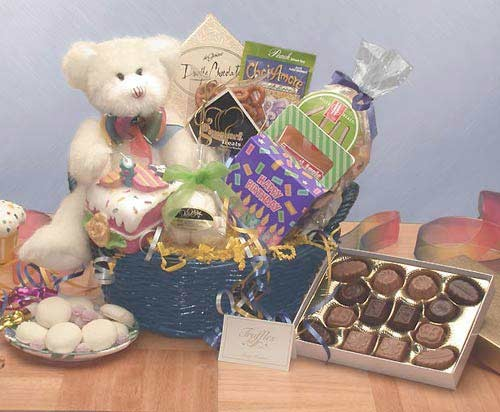 Have A Beary Happy Birthday Gift Basket - Medium