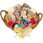 12 LARGE CONFETTI CELEBRATION GOURMET GIFT BASKET