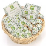 24- PC Corporate Logo Gift Basket -11 Round Willow