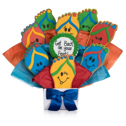 Back on your Feet! Cookie Bouquet