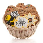 Bee Happy Cookie Gift Basket