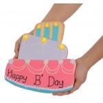 Giant Birthday Cake Sugar Shortbread Cookie