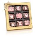 Baby Girl Chocolate Dipped Mini Crispy Rice Bars- Window Gift Box of 9