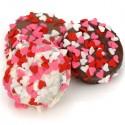 Belgian Chocolate Heart Sprinkle Valentine Oreos®- Individually Wrapped
