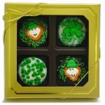 Belgian Chocolate St. Patrick's Day Oreos®- Gold Box of 4