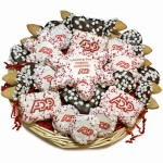 Custom Logo Snowflakes Holiday Cookie Basket -36 pc & A Sugar Shortbread Snowflake Cookie Card