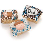Father's Day Chocolate Dipped Mini Crispy Rice Bars- Individually Wrapped