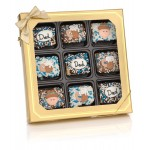 Father's Day Chocolate Dipped Mini Crispy Rice Bars- Window Gift Box of 9