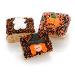 Halloween Chocolate Dipped Mini Crispy Rice Bars- Individually Wrapped