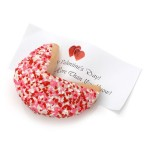 Heart Sprinkles Baby Giant Fortune Cookie