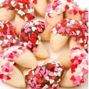 Heart Sprinkles Gourmet Fortune Cookies-Individually Wrapped