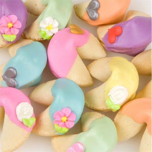 """Rainbow Fortune Cookies-Individually Wrapped -""""Bulk"""""""