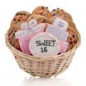 Sweet Sixteen Cookie Gift Basket