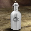 Personalized Stainless Steel Growler - 3 Beers