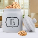 Personalized Mr. & Mrs. Wedding Ring Cookie Jar - Initial
