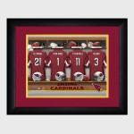 Personalized NFL Locker Room Print with Matted Frame - Arizona Cardinals