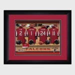 Personalized NFL Locker Room Print with Matted Frame - Atlanta Falcons
