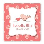 Baby Nursery Canvas Sign - Birdies
