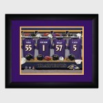 Personalized NFL Locker Room Print with Matted Frame - Baltimore Ravens